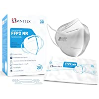 Omnitex FFP2 Face Mask - Box of 20, Individually Wrapped | High Filtration - 5 Layers | EN149 CE Certified…