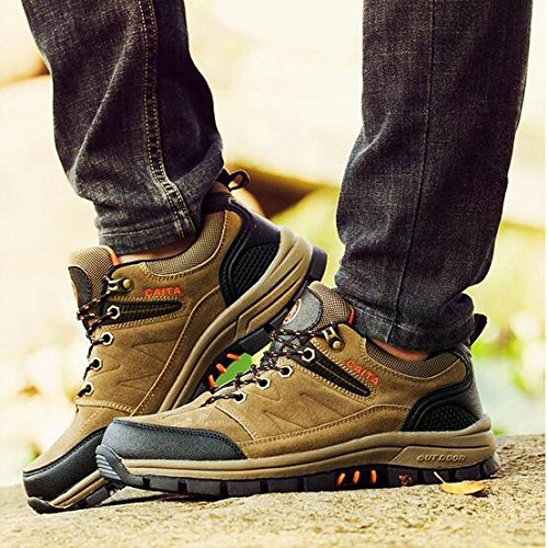 Z&HX sportsScarpe da trekking all'aperto scarpe da trekking antiscivolo scarpe primavera e smorzamento scarpe off-road Khaki
