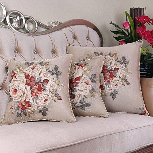 RFVBNM Jacquard de lujo Chino eólico cojín almohada Lumbar Sofa cama Grande almohada Chip-Sets