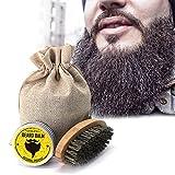 Crema de bigote barba Acondicionador de aceite conjunto Bálsamo Hidratante saludable cera cepillo Kit de cuidado