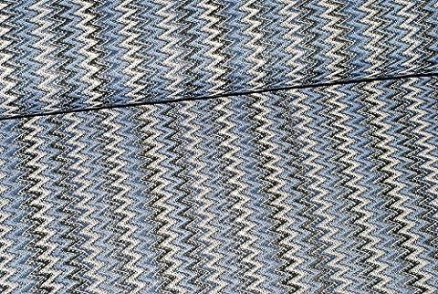 1 m * 1,4 m - Stoff - Strickstoff / Spitze - Zickzack Muster -