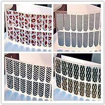 Evtech(tm) 8 piezas Nail Polish Strips 16 Labios rojos de dos extremos Adhesivos uñas Straip spot tiras de clavos Consejos Láminas Etiqueta Arte Estilo Moda Glitters herramienta del arte del clavo de Transferencia
