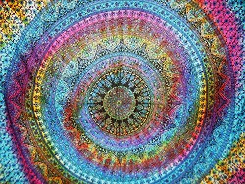 Traditional Jaipur Großer Elefant Wandteppich, Tie Dye Mandala Wandbehang, indischen Tagesdecke, Bohemian Schlafsaal, Zimmerdekoration Hippie Picknick Werfen, Boho Strand Decke (Hippie Decke Werfen)