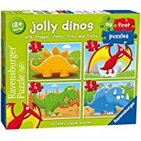 Ravensburger 7289 My First Puzzle Jolly Dinos Jigsaw Puzzles - 2, 3, 4 and 5 Pieces