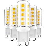 Ampoules LED G9, Non Scintillement, LVWIT 3.5W Blanc Chaud 3000K 400Lm 80ra, Equivalent à 40W ampoules halogène G9, Non Dimma