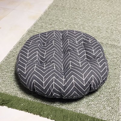 Cotton Linen Comfort students classroom seat cushion living room rattan chairs tatami mat 40cm, round thick dark