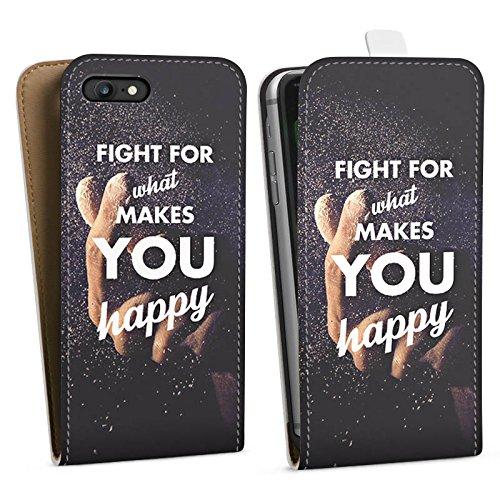 Apple iPhone X Silikon Hülle Case Schutzhülle Glück Motivation Leben Downflip Tasche weiß