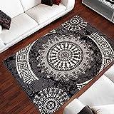 TAPISO Dream Tappeto Soggiorno Salotto Classico Grigio Orientale Ornamento Tradizionale A Pelo Corto 180 x 250 cm