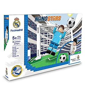 Nanostars- Bloques Compatible Penalty Set Standard de Real Madrid Juegos de construcción, 2 Figuras, 78 Piezas (Giochi Preziosi Spagna 1)