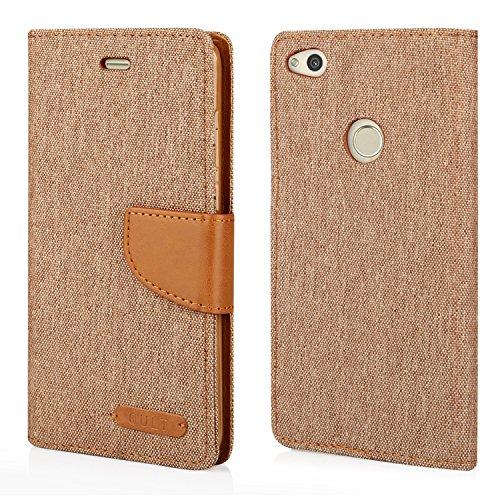 Preisvergleich Produktbild Stylisches Bookstyle Handytasche Flip Case für Huawei P8 Lite 2017 - Handy Schutz Hülle Etui Schale Cover Book Case braun