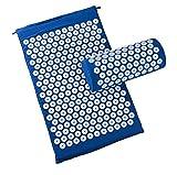 Akupressurmatratze und Kissen für Entspannung, Anti-Stress, Energie - blaue Farbe