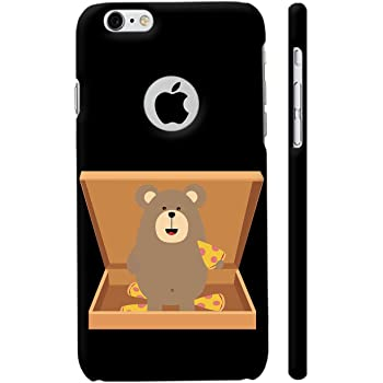 Colorpur iPhone 6 / 6s Logo Cut Cover - Brown Bear In Pizzabox Printed Back Case
