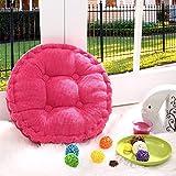 Zdan.uu Round Chair Cuscini imbottiti Imbottiture materassini per Country Office Divano da pavimento 40 * 40cm * 1 (Pink)