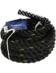 TOMSHOO Battle Rope Corda di Forma Fisica Fitness Workout