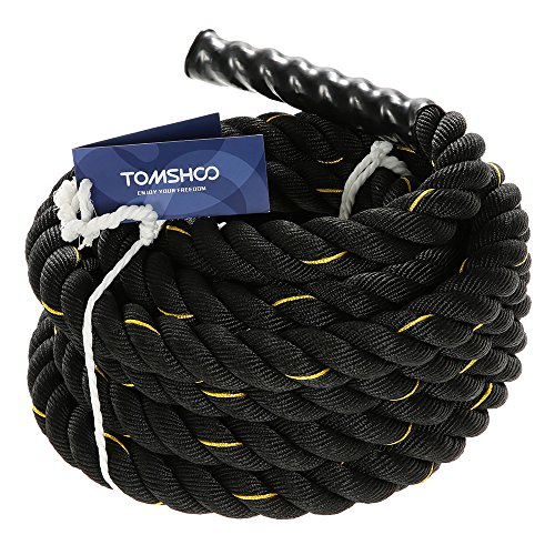 TOMSHOO Corde Ondulatoire Battle Ropes Crossfit Corde Entrainement Crossfit 10m / 12m / 15m