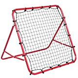 Costway Adjustable Football Training Net Pro Rebounder Kickback Soccer Target Goal Child Kids