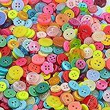 660x dylandy-Harz Tasten Verschiedene Farben und Größen Runde Knöpfe zum Nähen Stricken Scrapbooking Kinder DIY Craft Decor, Kunstharz, 7-12mm, 7-12mm