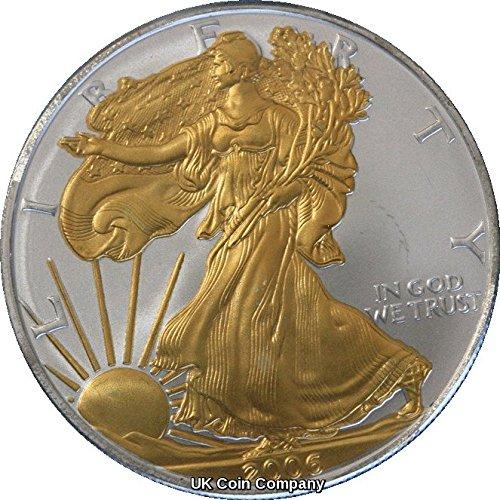 2006 American 1oz Fine Silver Gold Liberty Eagle Coin