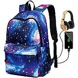 Deeumy Galaxy Schultasche Rucksack, Kinder Schule Schulrucksäcke Unisex Daypack Laptop Tasche Backpack Freizeitrucksack mit U