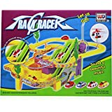 RIANZ Track Racer Racing Car Set with Helicopter, Battery Operated Christmas Toy