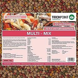 Koifutter Multi-Mix, 5 Kg, 6 mm, Schwimmendes Ganzjahresfutter mit allen wichtigen Inhaltsstoffen
