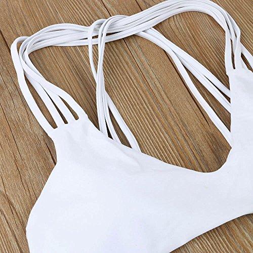 EARS - Frauen Einteiler Push Up Bikini Bademode Weiß