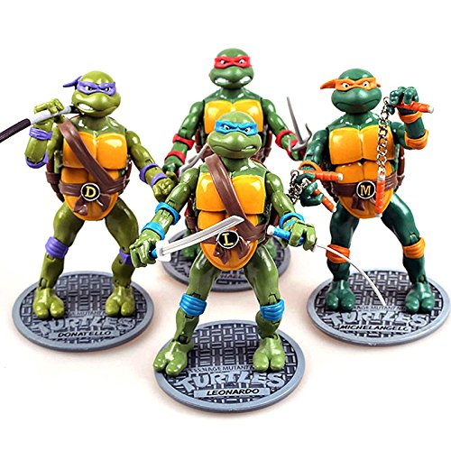 ONOGAL Las Tortugas Ninja figuras articuladas Leonardo Raphael Donatello Michelangelo 160 mm 4676