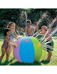 toyfun Inflatable Spray Water Ball Summer Water Ball Sprinkler for Beach Pool Play Children Kids
