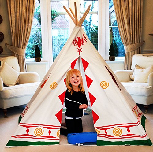 Bentley Kids - Tenda indiana teepee gioco wild west per bambini