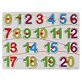 #9: And-Generic Wooden Numerical Shape-Matching Colorful Knob Puzzle Board Toys