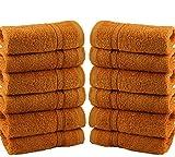 Waschlappen / Handtücher, Baumwolle, 550gsm, 12 Stück, baumwolle, Orange, 12 Pieces Set