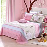 Puro algodón tela cruzada solo estudiante ropa de cama/ algodón impreso doble hoja/Colchas infantiles-F 120x230cm(47x91inch)