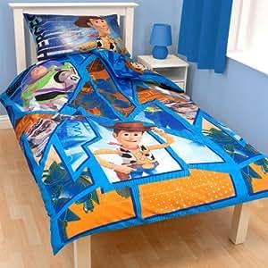 parure linge de lit housse de couette taie d oreiller disney toy story 1 personne garcon fille. Black Bedroom Furniture Sets. Home Design Ideas
