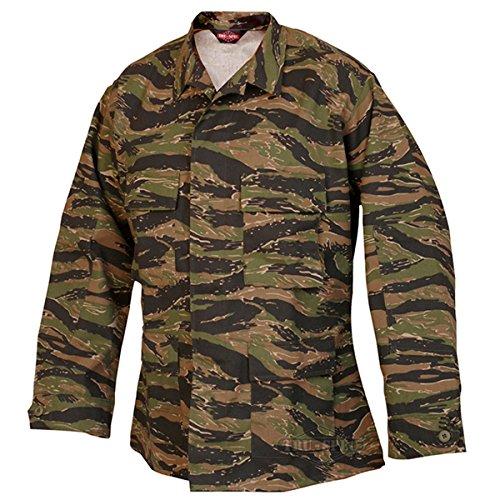 Tru-Spec BDU Coat CP Twill Vietnam Tiger Stripe M-Reg 1619004 (Vietnam Tiger Stripe)