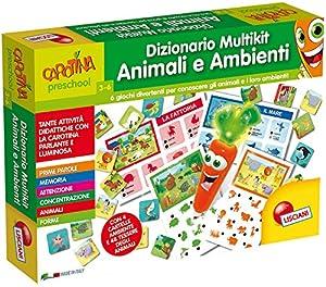 Lisciani Giochi 53391-Carotina Penna Parlante Diccionario Multikit Animales y entornos (Animali e Ambienti)