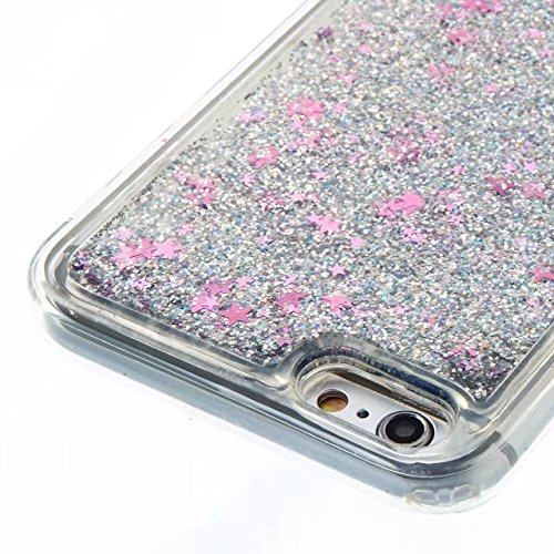 Coque iPhone 7, flottant Liquidee flottant de luxe Bling Glitter Sparkle Case Cover pour iPhone 7 4.7inch 1# 6 Plus