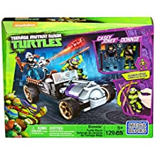 Mega Bloks - Vehículos de Carreras, Tortugas Ninja, Juego de construcción (Mattel DMX52