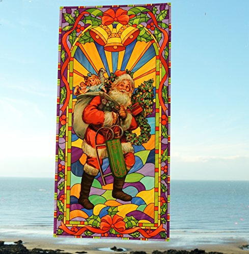 unique-and-unusual-father-christmas-traditional-church-style-large-double-sided-christmas-stained-gl