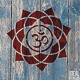 Om Mandala Símbolo Plantilla | Reutilizable Casa Pared Decoración, Arte y Artesanía...