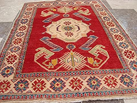 Awesome Super Kazak Caucasion Geometric Veg Dyed Mahal Hand Knotted