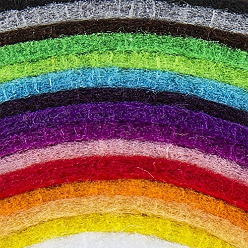 Filz, 2mm stark, DIN A4, verschiedene Farben, 15 Bogen