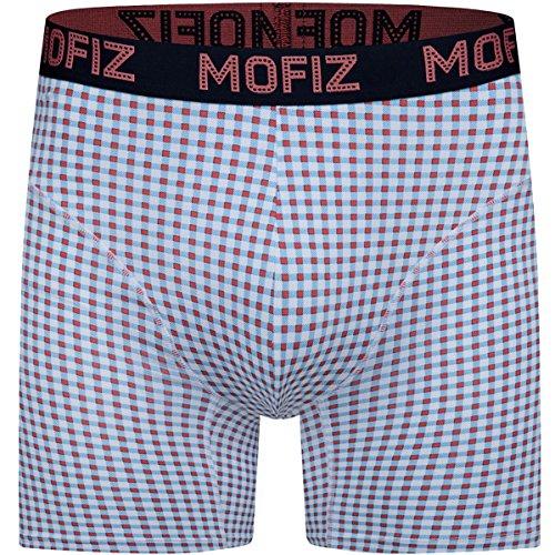 Boxer Briefs Lightweight (JINSHI Herren Bambus Underwear Tief Sitzende Hosenformen Weich Boxer Briefs Komfortable Passform Rot Größe M)