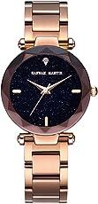 Damen Uhren, L'ananas Frauen Mode Diamant schneiden Sternenhimmel Zifferblatt Mesh Riemen Armband Armbanduhr Bracelet Women Watches