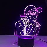 3D optische Täuschung Nachtlicht Lil Peep Rapper Geeignet für Kinder Familie Freunde Geburtstag Valentinstag Weihnachtsgesche