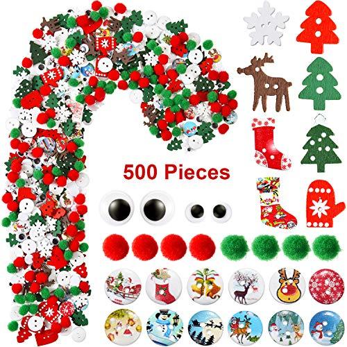 500 Pièces Embellissements de Noël de Styles Assortis...