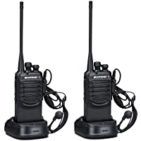 BaoFeng BF-888SA Long Range and Rechargeable 2 Ways Radio Walkie Talkies with Earpieces for Adults Trolling Camping…