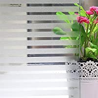 MEXITAL Privacy Window Film Decorative Blinds Window Sticker Frosted Static Cling Window Glass Film for Office and Home - No Residue, UV Prevention Easy Removal 45 * 200 cm