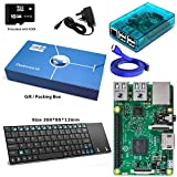 Maker-Sphere 16GB komplette Raspberry Pi Modell B 3 Quad-Core-XBMC Deutschland mit KIT-Tastatur-Layout (blau)