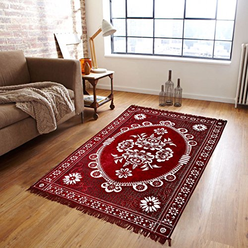 Zesture Bring Home Premium Living Room Valvet touch Carpet rug -(7 X 5 , Multicolor)