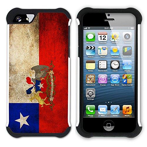 Graphic4You Vintage Uralt Flagge Von Venezuela Venezolanisch Design Hart + Weiche Kratzfeste Hülle Case Schale Tasche Schutzhülle für Apple iPhone SE / 5 / 5S Chile Chilenisch